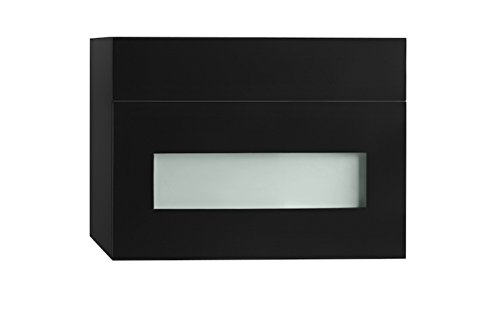 Rebecca 18 Inch Wall Mount - Ronbow 632018-1-B02 Rebecca Wall Mount Drawer Bridge with Glass Front, 18