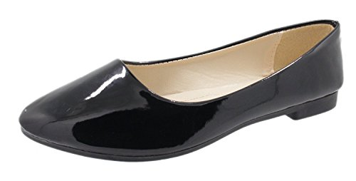 Work Flats Wedding HooH Women's Simple Color Black Candy Loafers 1 S1OnE0w7nq