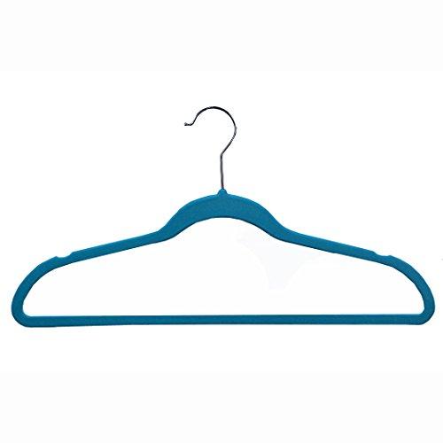 Richards Homewares SOFTGRIP/Tiffany set/25 Soft Grip Anti Slip, Space-Saving Suit Hangers, Blue, Set of - Grip Soft Hangers Suit