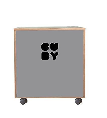 Cuby scatola Baule dei giocattoli su ruote, impilabile zum Regal System Grafinteriors