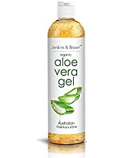 Organic Aloe Vera Gel with 100% Pure Aloe from Fresh Cut Aloe Plant, Not Powder - No Harsh Ingredients Or Dyes, Absorbs Rapidly Large Size 375ml |12.68 oz