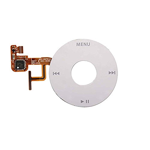 Click Wheel with Flex Cable Compatible with iPod Video (5th Generation) (White) (A1238)