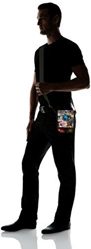 """The North Face """"Bardu sacchetto unisex adulto, Bright Cobalt Blue/Tnf Black TNF Red Sticker Bomb Print/TNF Black"""