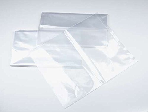 "12"" x 18"" 1 mil. - Clear Plastic Flat Open Poly Bag (100 Pack) 
