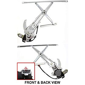1998-2002 Honda Accord Coupe 2 Door Power Window Regulator with Motor Left Driver Side (1998 98 1999 99 2000 00 2001 01 2002 02) ()