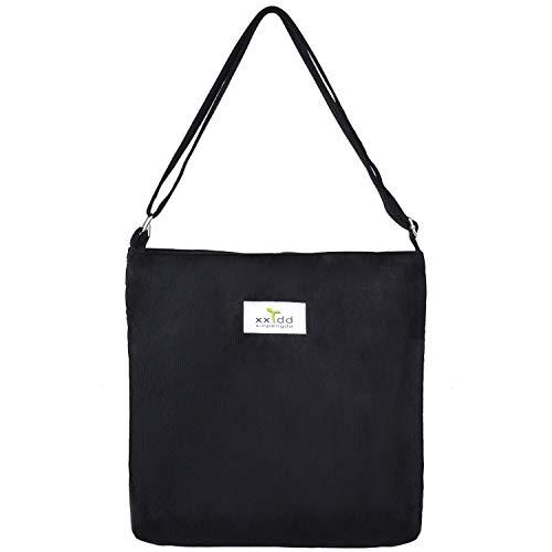 Galleon - Fanspack Women s Tote Handbags Casual Lightweight Corduroy Canvas  Messenger Bag Crossbody Shoulder Bag Purse 43e1db8e1afd6