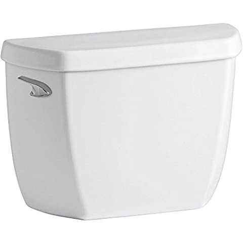 Kohler K-4436-T-0 Wellworth Classic 1.28 gpf Toilet Tank with Class Five Flushing Technology and Left-Hand Trip Lever with Tank Locks, - Kohler Class Five Flushing System