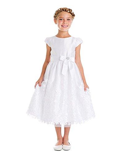 (iGirldress White Flower Girl First Communion Pageant Wedding Birthday Dress SK731 Size)