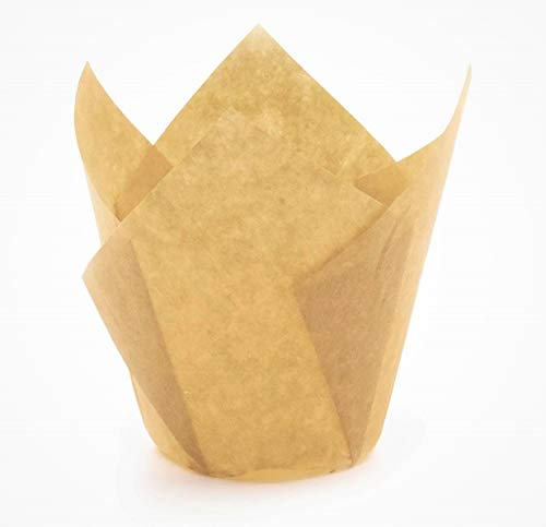 Natural Tulip cupcake liners Baking Cups for large cupcake and muffins appx. 200/PC