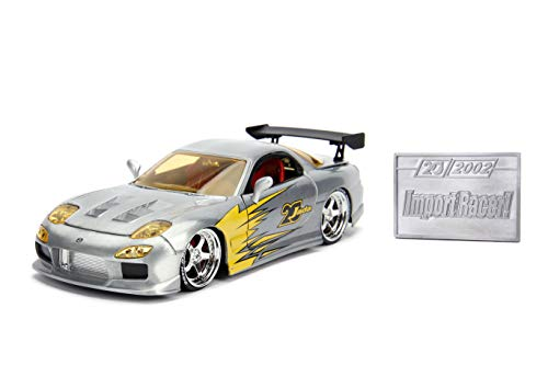 JADA Toys 20TH Anniversary-Import Racer - '93 Mazda RX-7 DIE CAST 1:24 Scale Bare Metal from Jada