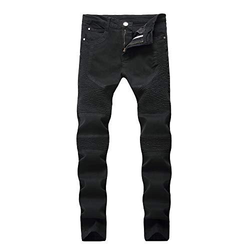 FuweiEncore Pantalones Vaqueros Vaqueros Vaqueros Pantalones tamaño de los Negro Pantalones Micro Color Hombres 29 Negro elásticos zzagwrq