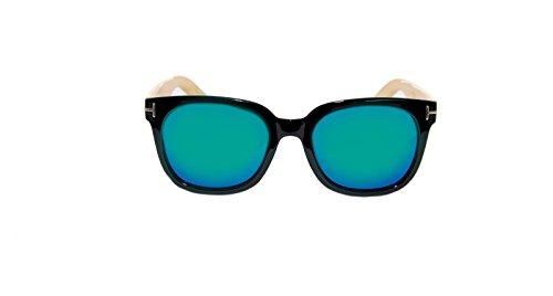 Vintage Hombre RAINBOW Mujer Mirror SAFETY Sol Green Madera Gafas Rwc de Black RW blue de POLARIZADAS Gafas SAn1qnx