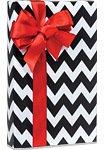 Black & White CHEVRON STRIPE Gift Wrap Wrapping Paper - 16ft Roll