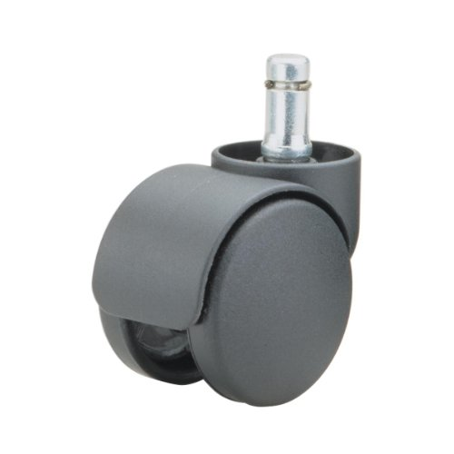Oversized Stem - Master Caster Safety Series Casters, Soft Wheel for Chair Mats and Hard Floors, Oversize Neck, 3/8