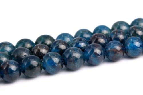 4mm Genuine Natural Blue Apatite Grade A Round Gemstone Loose Beads 15'' Crafting Key Chain Bracelet Necklace Jewelry Accessories Pendants ()