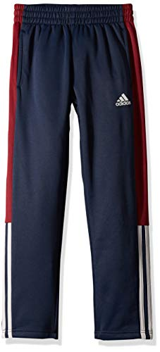 adidas Boys' Big Tricot Pant, Navy Blue Heather, M (10/12) (Adidas Track Pants For Boys)
