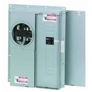 Meter Breaker Panel (Eaton Mbe1224B100Bts Br Outdoor Main Breaker Meter and Panel House Combo, 100 Amp, 12 to 24 Circuits)