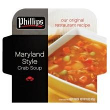 Phillips Foods Maryland Style Crab Soup, 4 Pound - 64 per case. - Crab Meat Soup