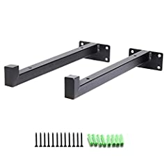 Hosko Shelf Brackets are designed to be easy-to-use for DIY design and save space for your home.Made from heavy duty iron material which is durable and sturdy. Perfect for industrial and rustic furniture,shelving and other projects.Floating S...
