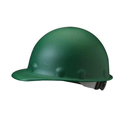 Fibre-Metal Roughneck Green Fiberglass Cap Style Hard Hat - 8-Point Suspension - Ratchet Adjustment - Strip-Proof - P2ARW74A000 [PRICE is per EACH]