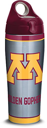Tervis 1316169 Minnesota Golden Gophers Tradition Stainless Steel Insulated Tumbler with Lid, 24oz Water Bottle, Silver