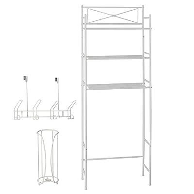3 Piece Bathroom Storage Space Saver Organizer Set