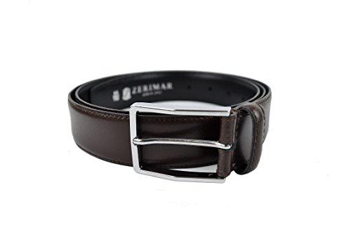 Zerimar Cintura di cuoio abbronzatura morbide Per regolare non si indurisce. Per impedire il furto Altezza 3.5 cms Aclaramiento Auténtica 4Bnna