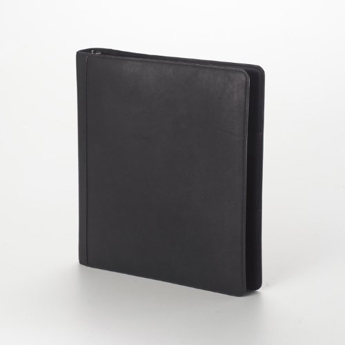 Clava Open 3 Ring Binder-Bridle Black Blk Three Ring Binder