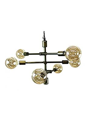 Pendant Lamp Modern Contemporary High Design Multi Arm Chandelier Antique Brass Fnsh