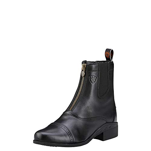 ARIAT Women's Heritage Zipper Paddock Riding Boot Round Toe Black 5.5 M US
