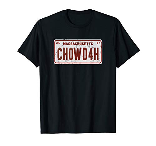 Clam Chowder Boston Accent CHOWDAH Funny T Shirt
