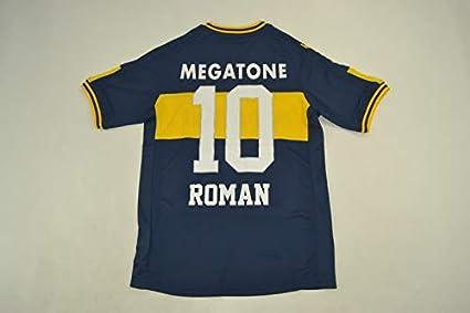 26a0e8872 Retro Roman#10 Boca Juniors Home Soccer Jersey 2007 (Blue&Yellow, ...