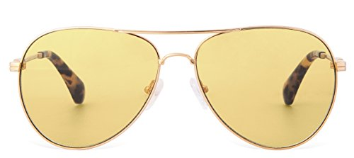 Sonix Women's Lodi Sunglasses, Gold Wire/Honey, One Size by Sonix