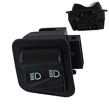 Xiangfeishangmao Interruptor de motocicleta de alta calidad Faro de bocina Se/ñal de giro Botones de inicio de luz de haz alto//bajo Accesorios for scooter Piaggio Color : Negro