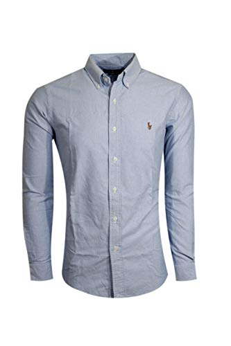 - Ralph Lauren Polo Mens Long Sleeve Button Down Shirt-BSR Blue-Medium