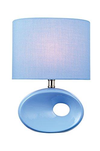 Rectangular Billiard Shade - Lite Source LS-22315L/BLU Hennessy Table Lamp