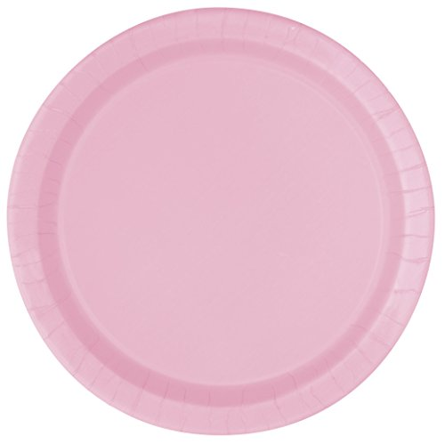 Light Pink Paper Cake Plates, 20ct (Plate Pink Cake)