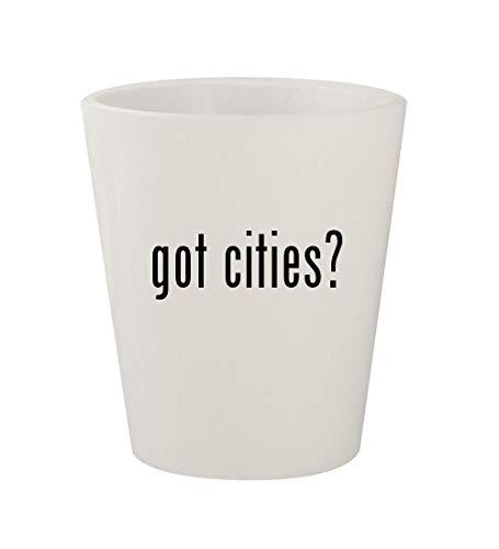 got cities? - Ceramic White 1.5oz Shot Glass