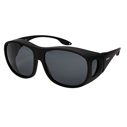 - Yodo Fit Over Glasses Sunglasses with Polarized Lenses for Men and Women,Black