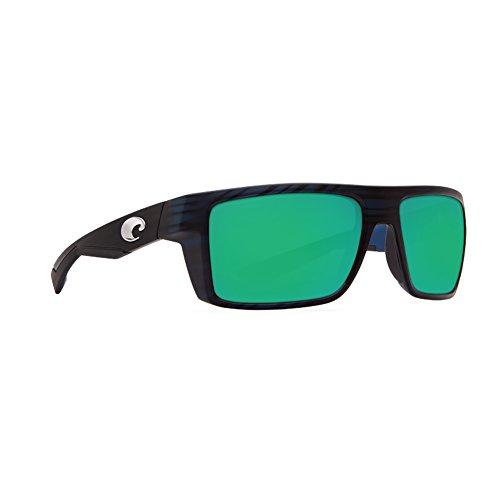 Costa Del Mar Motu Sunglasses, Black Teak, Green Mirror 580 Glass Lens
