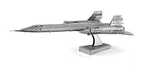 Fascinations Metal Earth SR71 Blackbird Airplane 3D Metal Model Kit - Model Plane