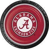 Club Pack of 96 NCAA University of Alabama Crimson Tide Paper Party Dinner Plates -