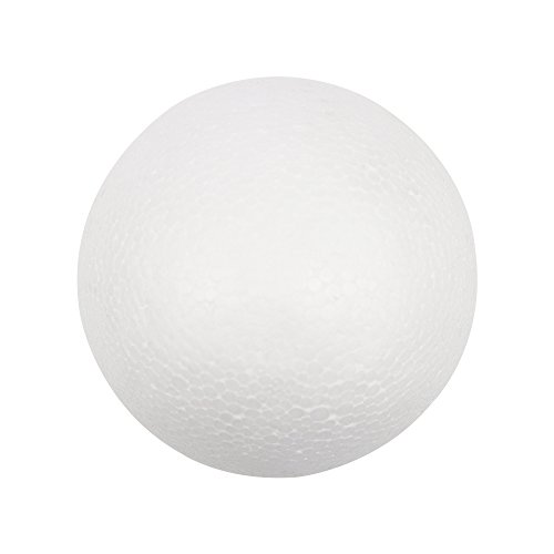 Multi Size Option White Styrofoam Round Foam Ball (8inch(20cm) 1piece) ()