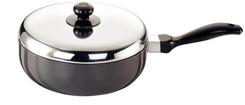 Futura Q76 Non Stick 9-Inch All Purpose Frying Pan with Stainless Steel Lid, 2.5-Liter