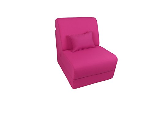 Fun Furnishings Micro Suede Teen Chair with Pillow, Pink