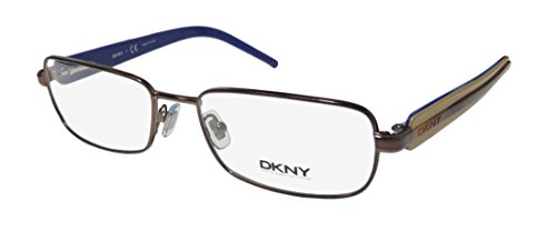 DKNY 5593 Womens/Ladies Designer Full-rim Strass Flexible Hinges Eyeglasses/Spectacles (53-17-135, Brown / Havana / - Goggles Dkny