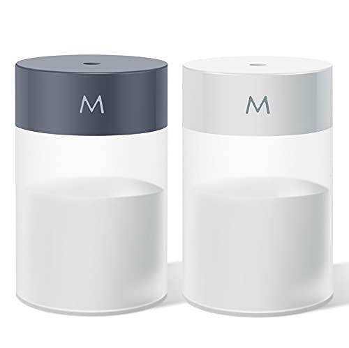 Cadai 2-pack cool mist humidifier,portable mini humidifier,personal desk humidifier charged with USB,2 mist modes…