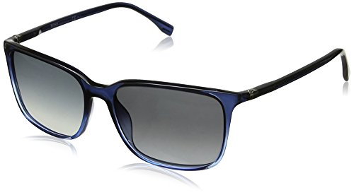 BOSS by Hugo Boss Men's B0666s Rectangular Sunglasses, Shaded Blue Blue/Gray Gradient, 56 - Blue Gradient Gray