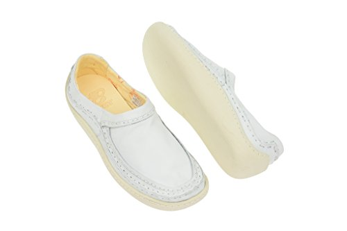 eJECT White Trainers in Nubuck WHITE Slipper White Leather Women's Soft eJECT wPqfC5
