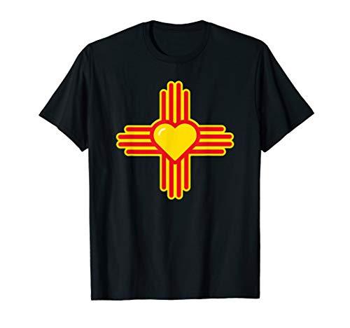 (I Love New Mexico Heart Zia Symbol of NM T-shirt)